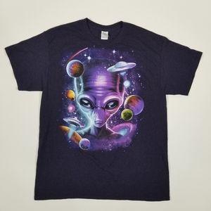 NEW Gildan Alien UFO Graphic T-Shirt MENS LARGE